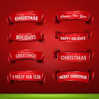 Sammlung von Weihnachten und Neujahr Banner