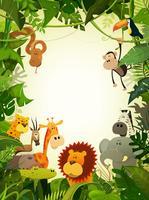 Wildlife Djur Bakgrund vektor