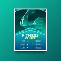Fitness Hälsa Livsstil Flyer Vector