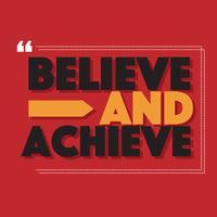 Glauben Sie und erzielen Sie Vektor