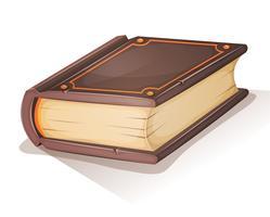 tecknad gammal bok