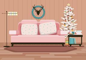 Gemütliche Weihnachts- und Winterstimmung mit Dekorationen für Kekse, Kaffee und Lichter vektor