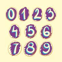 Numeralsuppsättning vektor