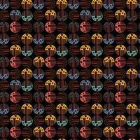 Vektor moderner nahtloser Hintergrund mit bunten handgezeichneten abstrakten runden Elementen, Kritzeleien. Verwenden Sie es für Tapeten, Textildruck, Musterfüllungen, Web, Textur, Geschenkpapier, Designpräsentationen