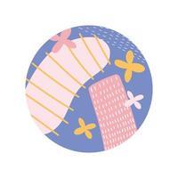 Highlight Cover abstraktes florales botanisches und minimalistisches Design vektor