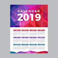 2019 Utskriftsbar kalender
