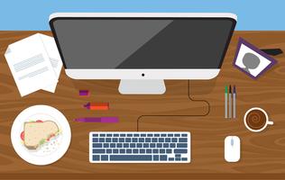 Vektor-Designer-Desktop-Illustration vektor