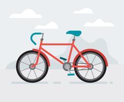 Fahrrad-Illustration