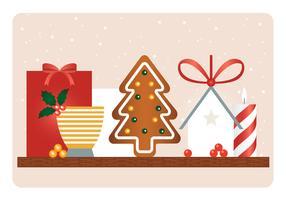 Vektor-Weihnachtselement-Illustration vektor