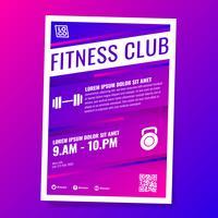 Fitness Gym Club Flyer Vorlage vektor
