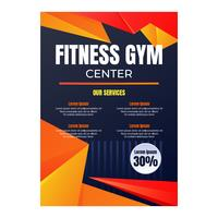 Fitness-Center-Vorlage vektor