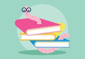 Bücherwurm-Illustration vektor