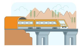 Elektrischer Zug-Vektor