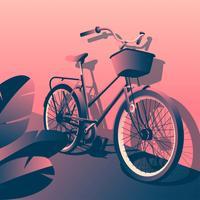 Klassischer Fahrrad-Vektor vektor