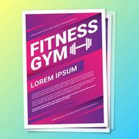 Fitnessstudio Gesundheit Lebensstil Flyer Vorlage vektor
