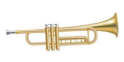 Trompete auf isoliertem Hintergrund. Vektoreps 10 vektor