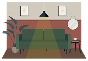 Vektor-Lounge-Illustration