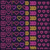 Valentinstag Neon Patterns
