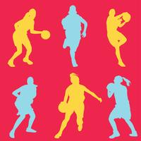 Weiblicher Basketball-Spieler-Vektor-Satz