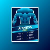 Fitness Gym Hälsa Livsstil Flyer vektor
