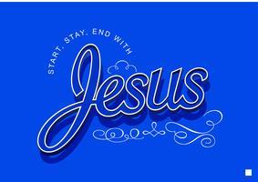 Jesus Schriftzug 6 vektor