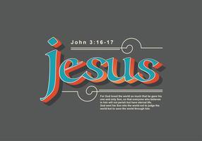 Jesus Schriftzug 8 vektor