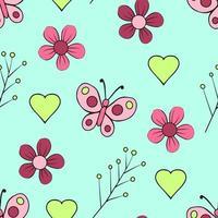 süßes nahtloses Blumenmuster vektor
