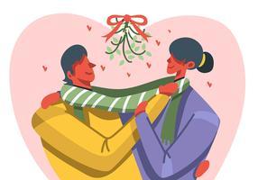 Par som står under Mistletoe