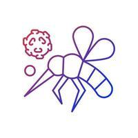 Insekten lineares Vektorsymbol mit Farbverlauf. gefährliche giftige Käfer verbreiten Krankheiten. Blutinfektion. biologisches Risiko. dünne Linie Farbsymbole. Piktogramm im modernen Stil. Vektor isolierte Umrisszeichnung