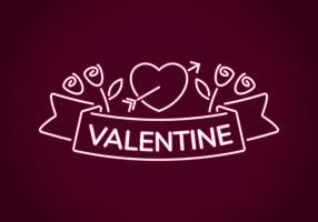 Neon Valentine Dekoration vektor
