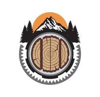 Millwood Logo Design Illustration Vektor-Eps-Format, geeignet für Ihre Designanforderungen, Logo, Illustration, Animation usw vektor