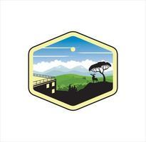 Mountain View Design Illustration Vector EPS-Format, geeignet für Ihre Designanforderungen, Logo, Illustration, Animation usw