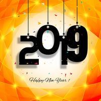 Schöner Texthintergrund des guten Rutsch ins Neue Jahr 2019