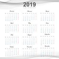 Schöner 2019 Geschäftskalenderentwurf