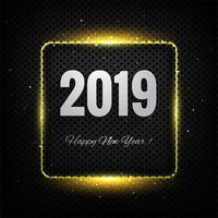 Bunter Hintergrund der Kartenfeier des guten Rutsch ins Neue Jahr 2019