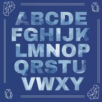 iskallt alfabet vektor