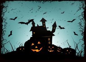 Halloween-Rahmenhintergrund vektor