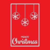 Jul bakgrund med hängande baubles vektor