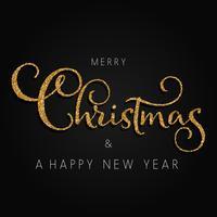 Glittrande jul och nyårsbakgrund vektor