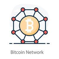 Bitcoin-Netzwerkknoten vektor