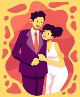 Paar in der Abendkleidung Illustration