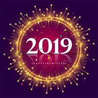 Eleganter bunter Kartenentwurf des guten Jahres 2019