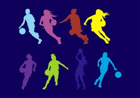 Frauen Basketball vektor