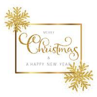 Glitter jul och nyårsbakgrund vektor