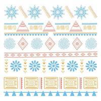 ethnischer handgemachter, gebürtiger Vintage-Blumentextilhintergrund vektor