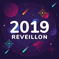 Reveillon Vector Bakgrund
