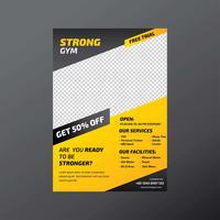 Fitness-Studio Flyer Vorlage vektor