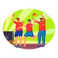 fotbollsmatch vektor