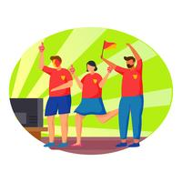 Fußballwatchparty vektor