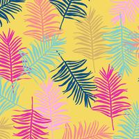 Tropischer Dschungel verlässt nahtlosen Musterhintergrund vektor
